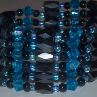 Wonderland Inspired Magnetic Hematite Wrap Bracelet / Anklet / Necklace / Choker / etc. - 36 inches