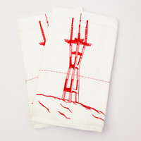 Sutro Tower Tea Towel - Wallflower Vintage Boutique - The Mission • San Francisco