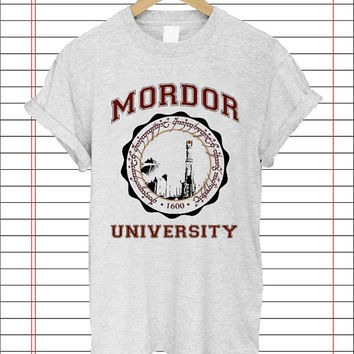 Work With Any Of the Alumni, mordor university popular item T Shirt Mens S-2XL and T Shirt Womens Size S-2XL by Dicakno