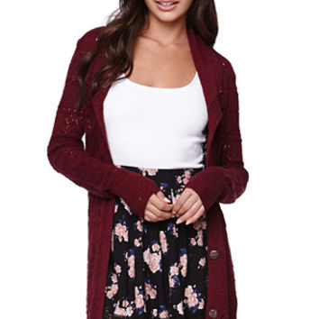 LA Hearts Floral Crochet Hem Skirt at PacSun.com