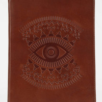 Embossed Leather Journal- Brown One