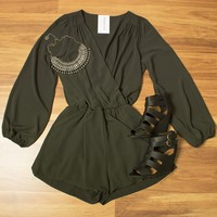 Up From Here Romper $37.00