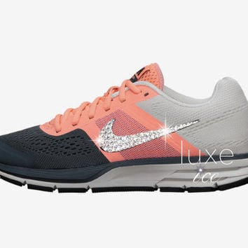 NIKE AIR PEGASUS+ 30 shoes w/Swarovski Crystals detail - Atomic Pink/Armory Slate/Pearl Pink/Black