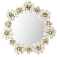 Ivory Wreath Mirror - Small