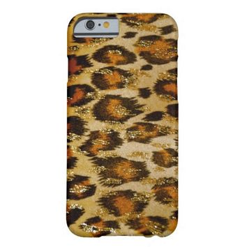 Leopard Print with Shiny Gold iPhone 6 case