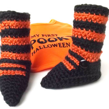 Halloween Baby Booties Witch Leggings
