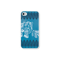 Elephant iPhone 5 Case - Elephant iPhone 5c Case - Blue Tribal Elephant iPhone Case Elephant iPhone 4 Case - Tribal iPhone 5 Case
