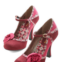 ModCloth Garden of Possibilities Heel in Merlot