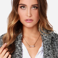 Level Out Gold Crystal Necklace