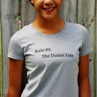 The Doctor's Rules T-Shirt. The Doctor Lies. from Evangelina's Closet
