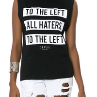 The To The Left Muscle Tee in Black