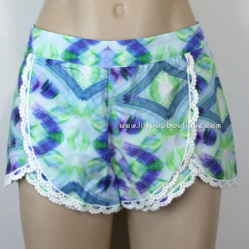 IKAT LACE TRIM SHORTS – lilypopboutique