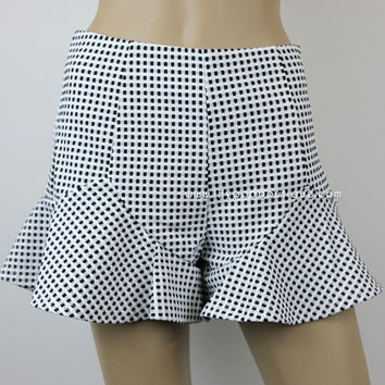 CHECKED FRILL SHORTS – lilypopboutique