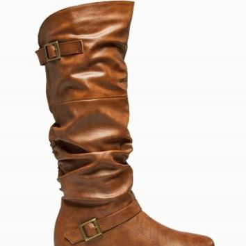 ZIP BACK BUCKLE BOOTS