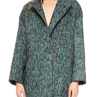 Zip Coat with Snake Embossed Back