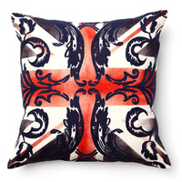 Full Bloom British Flag Digital Print Pillow