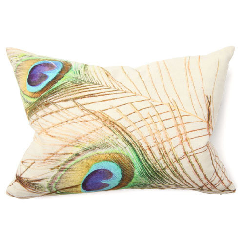 Illusion Peacock Digital Print Pillow