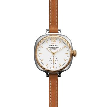 Shinola The Gomelsky 36mm Double Leather Wrap Strap