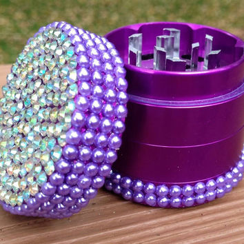 GRINDER -- MINIS Collection -- Crystal + Purple Pearl