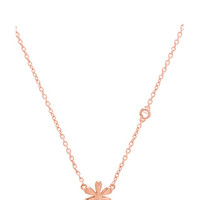 Daisy Necklace with Diamond Bezel in Rose Gold