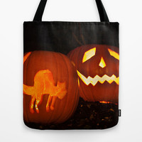 Halloween Lanterns Tote Bag by Steve Purnell