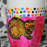 Ferret Mug Hand Painted Coffee Mug