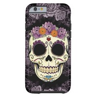 Vintage Skull and Roses iPhone 6 Tough