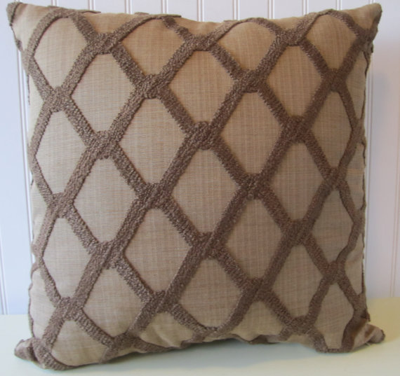 Brown Chenille Throw Pillows : Brown Chenille Decorative Pillow from CodyandCooperDesigns on