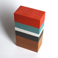 Modern Wood Sculpture Mid-Century Modern Design Reclaimed Wood Art