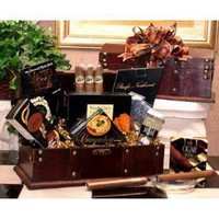 Gentleman`s Cigar Chest Gourmet Food Gift Basket