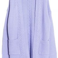 Open-Front Cable Cardigan - OASAP.com