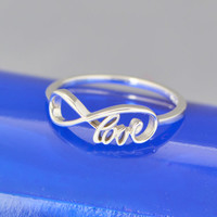 Infinity Love Ring - Promise Ring - Infinity Ring - Friendship Ring - Infinity Jewelry - Love Ring -