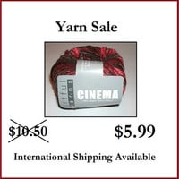 40% Off Retail Red Cinema Artful Yarns Scarlett O'Hara