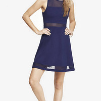 MESH INSET SKATER DRESS from EXPRESS