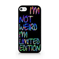 I'm Not Weird I'm Limited Edition - Hipster - Colorful - iPhone 5C Black Case