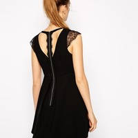 BCBGeneration Dress with Lace Cap Sleeve