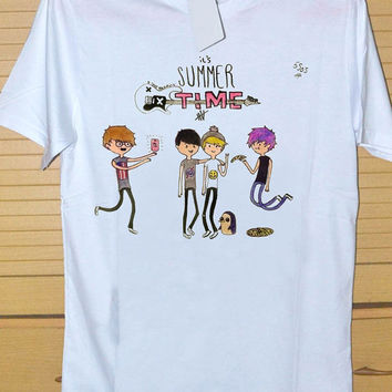 5sos summer time DTG Printed shirt for T shirt Mens and T shirt Woman Size S, M, L, XL and XXL