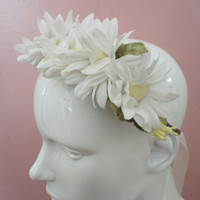 Daisy Head Wreath Crown, Weddings, Music Festivals