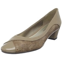 Easy Street Women`s Melt Pump,Taupe Snake/Patent,9 E US