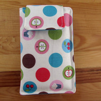 Fabric iPhone or iPod Touch Sleeve Cover Case, in Nutritional Dots