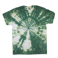 Adult Medium Forest Green Bullseye Tie Dye Spiral Shirt