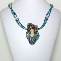 Mermaid Necklace In Ocean Blue & Green