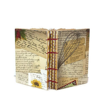 Recipe journal - Cook Book, Chef's gift, Culinary student,  handmade gifts, housewarming