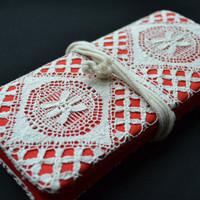 Laced with love clutch....