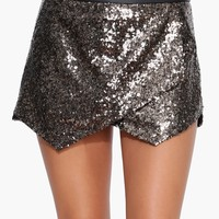 Sequin Envelope Skort