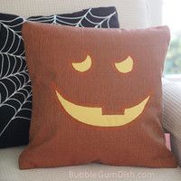 Jilly the Jack o Lantern Pumpkin Pillow Cover Halloween Decor 18 x 18