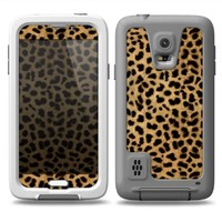 The Orange Cheetah Fur Pattern Skin for the Samsung Galaxy S5 fre LifeProof Case
