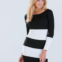 Good Idea Striped Bodycon Dress