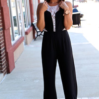 Black + Lace Romper