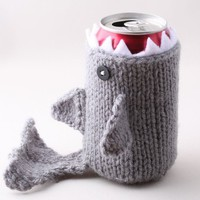 Monster Shark - for your Soda Can - Silver Grey - was featured in ImbibeMagazine.com